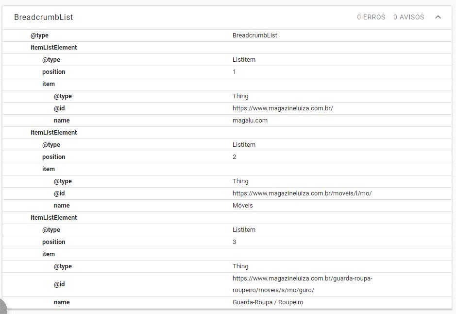 Ferramenta de teste de dados estruturados - detalhes do teste