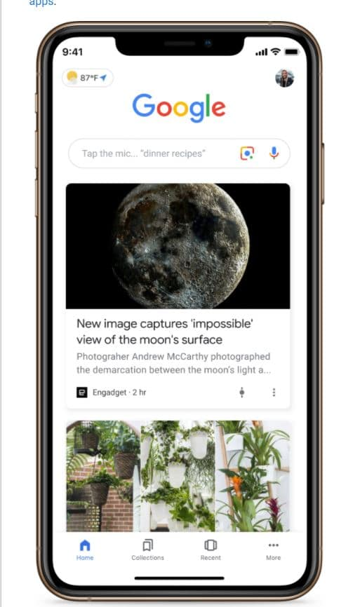 Print do feed do Google Discover