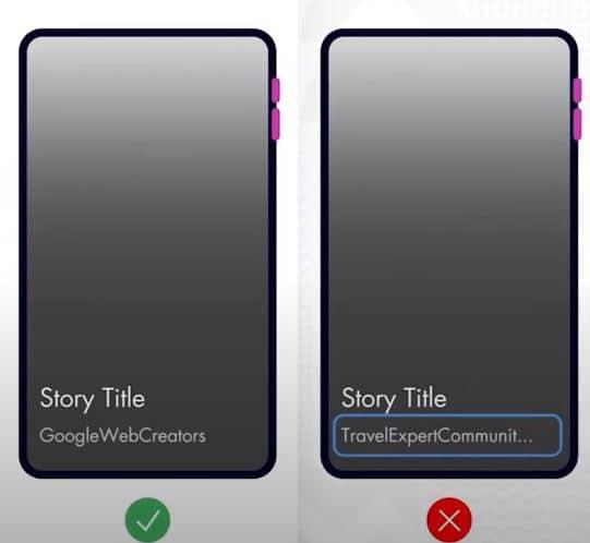 Web Stories publisher especificações