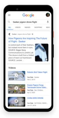 Web Story único na pesquisa do Goolge