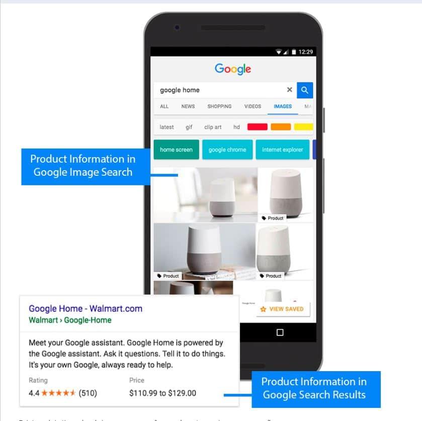 Exemplo de Rich Snippet no Google conquistado devido à marcação de Product na página