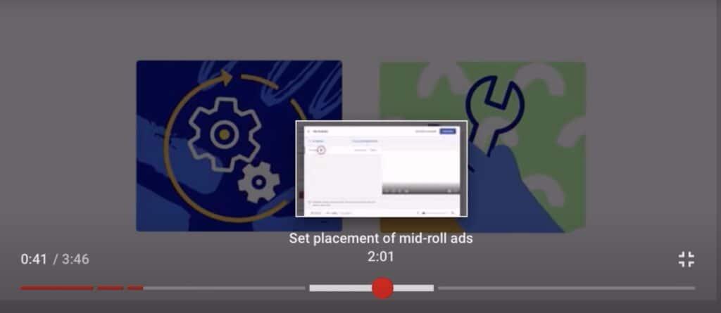 Exemplo de Timestamp do YouTube