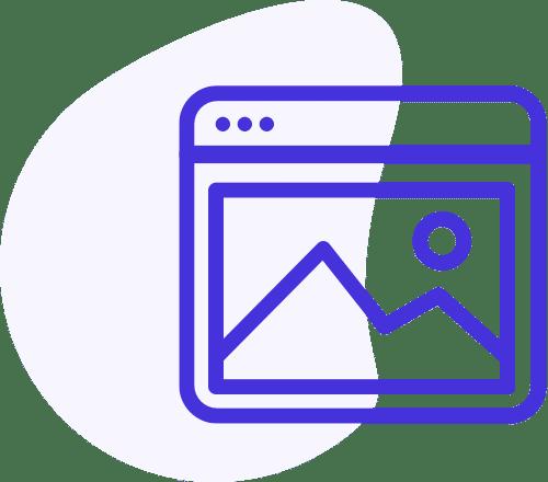 Ícone azul de uma imagem