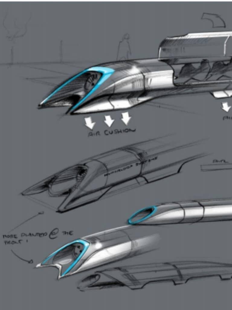 Rascunho do Hyperloop feito por Elon Musk