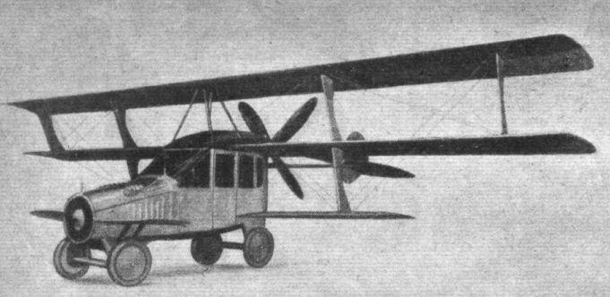 Ilustração do Curtiss autoplano