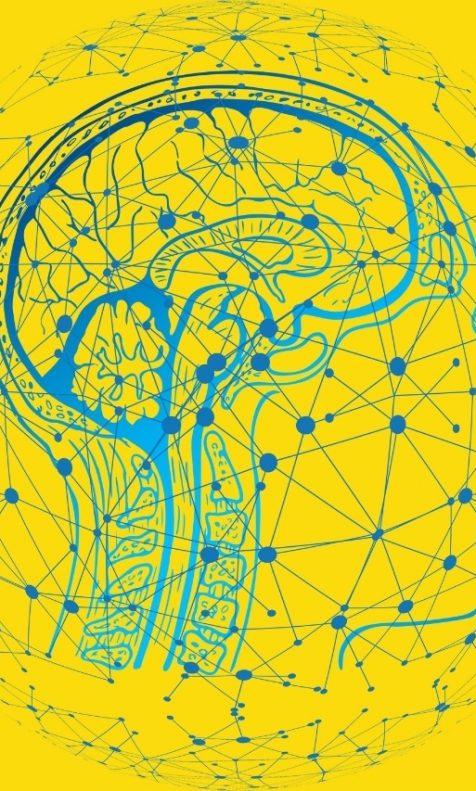 Cérebro tecnológico com várias conexões