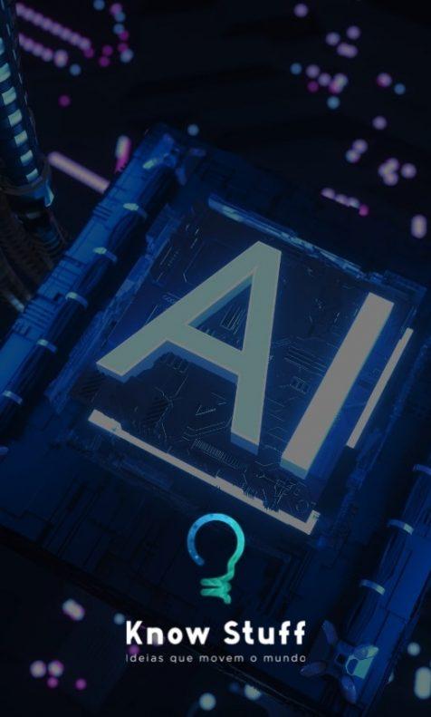 Fios de computador e chip com AI escrito para representar a inteligência artificial