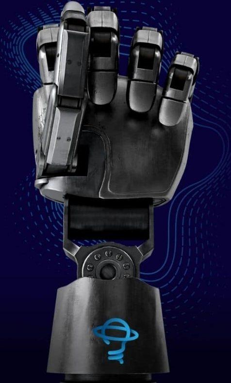 Mão biônica com logo da Know Stuff na Frente1