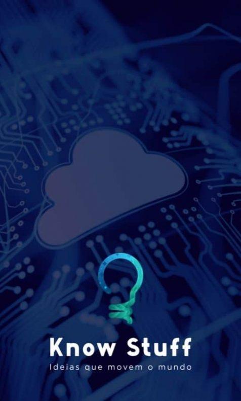 Representação de nuvem em local tecnológico